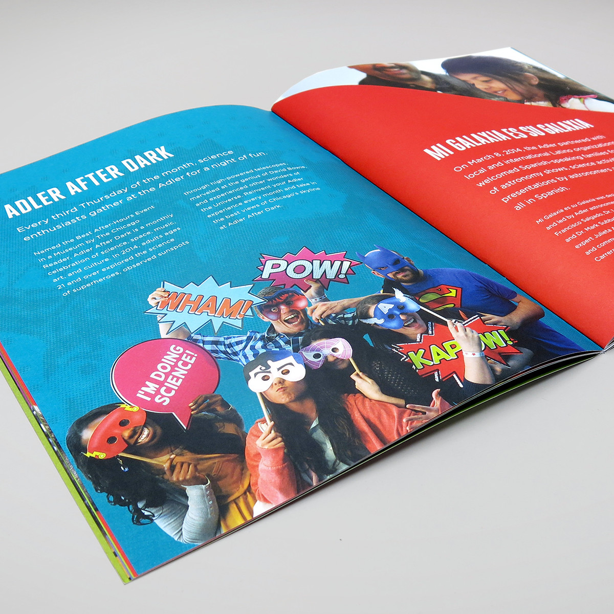 Adler Planetarium Annual Report on AIGA Member Gallery