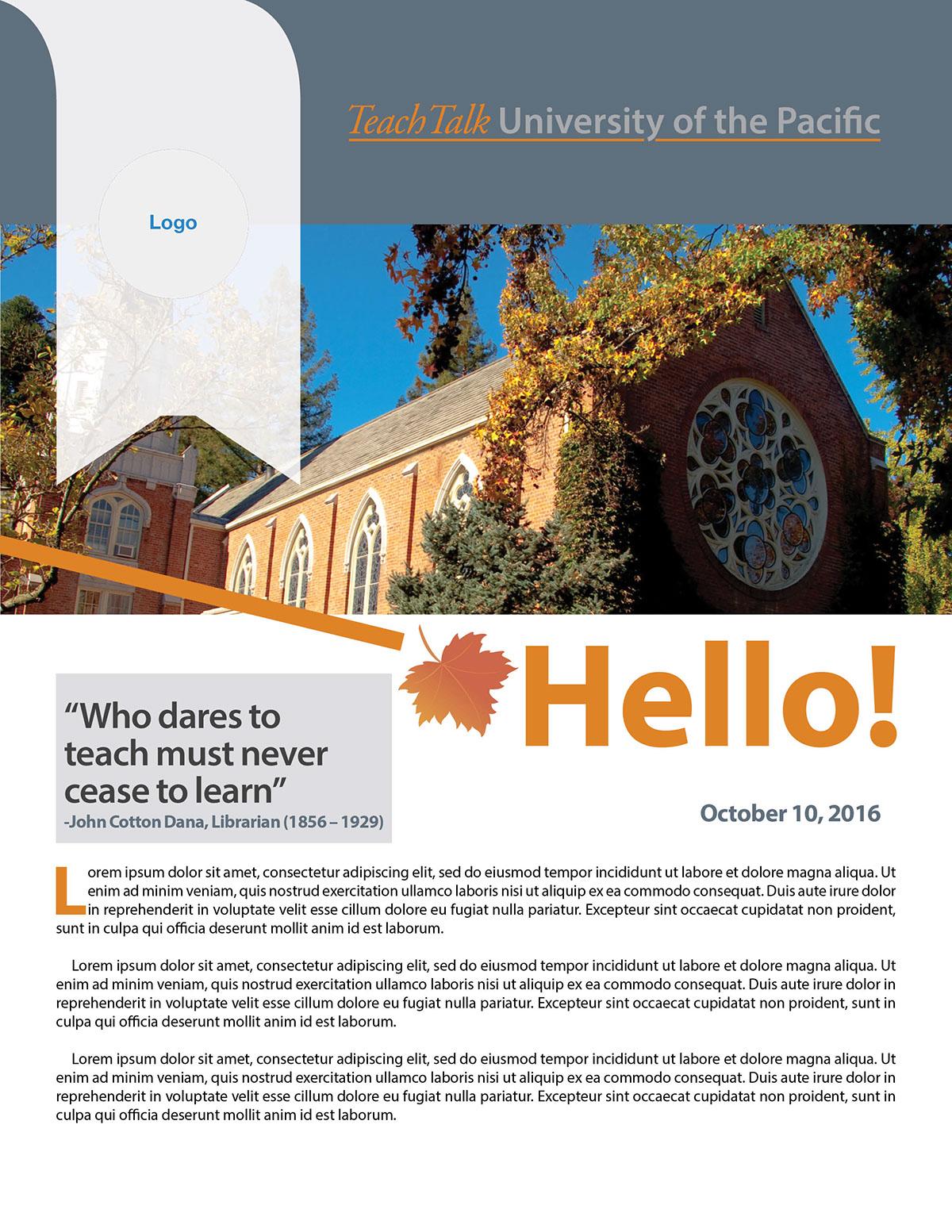 Newsletter Template On Behance