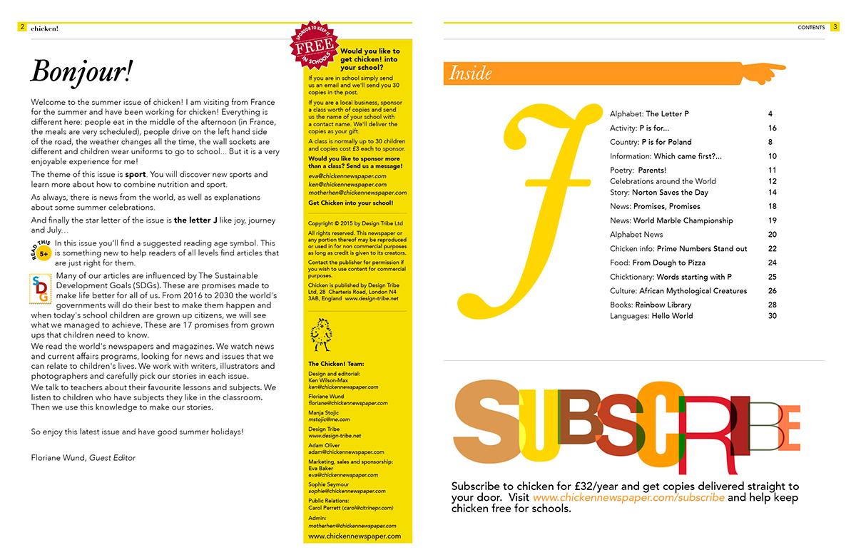 chicken! Newspaper for children Issue 5 on Behance
