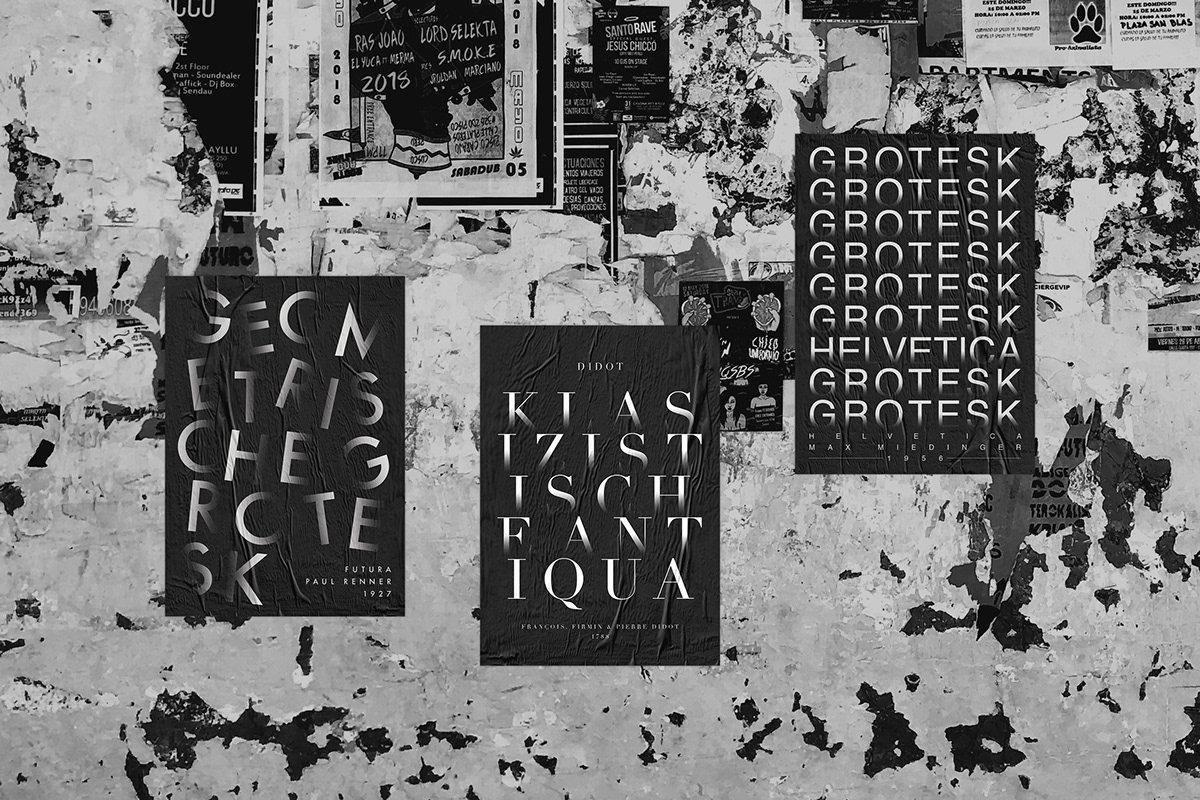Typographic Poster Series on Student Show