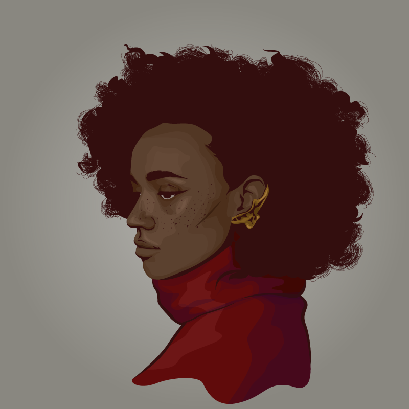 portrait woman black woman woman of color Beautiful afro fro freckles
