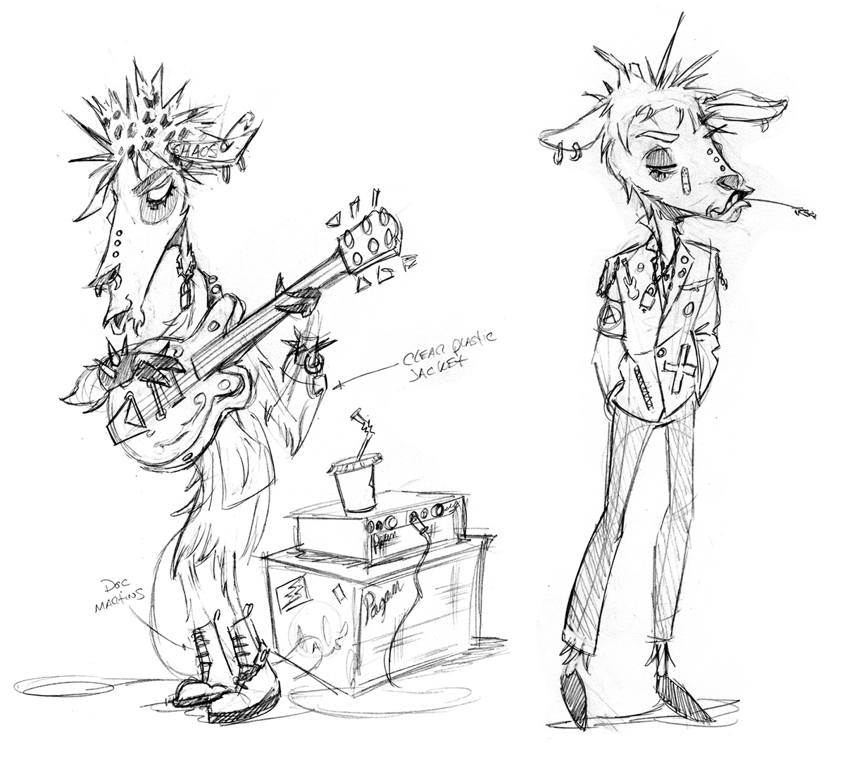 Character Design Session : Feature animation farm band character development on