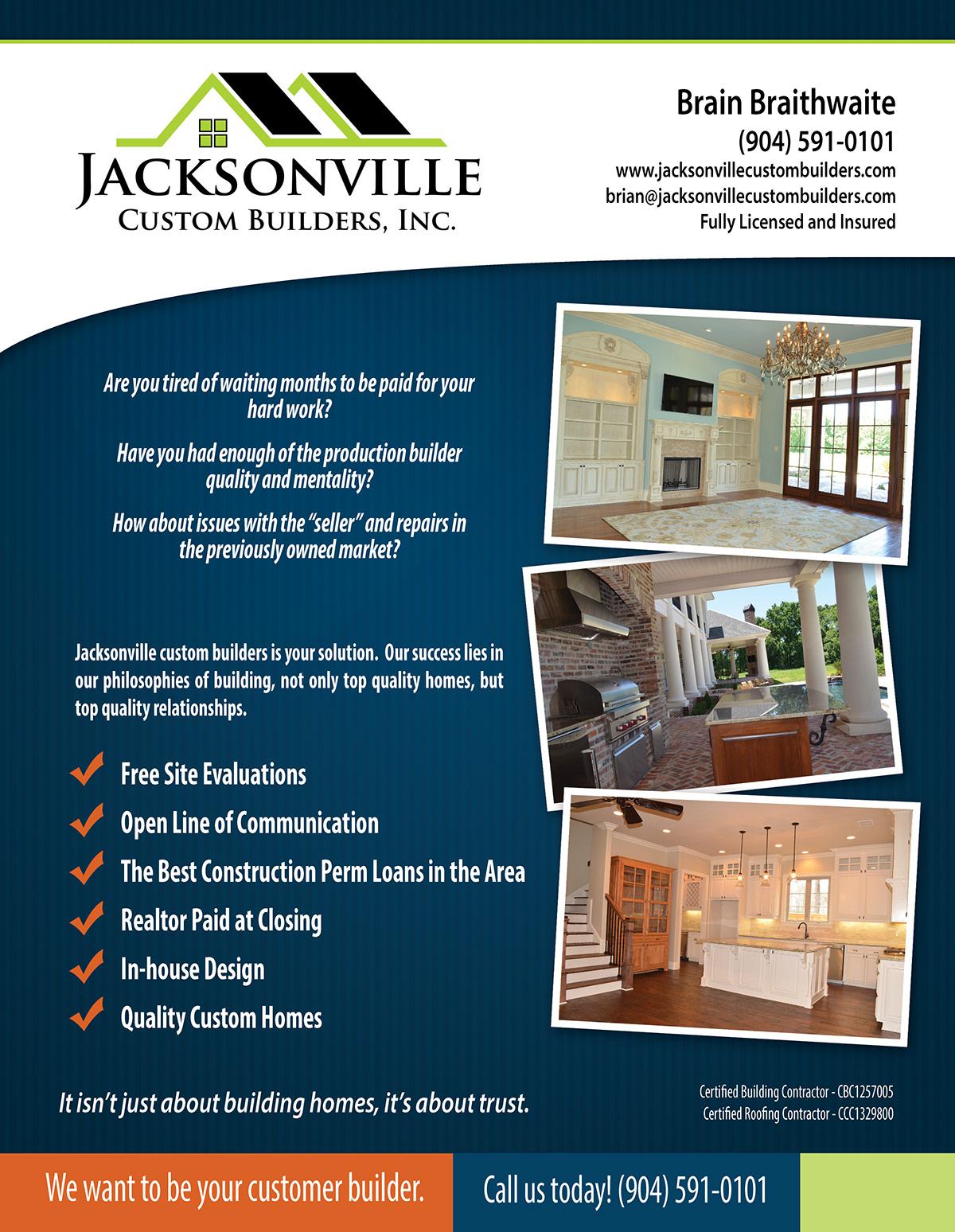 Jacksonville Custom Builders on Behance