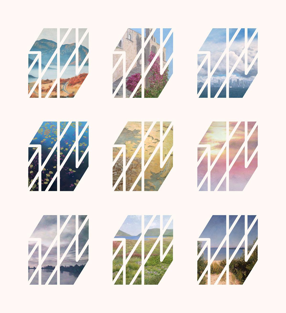 logo artist Website visual identity pattern mobile Business Cards