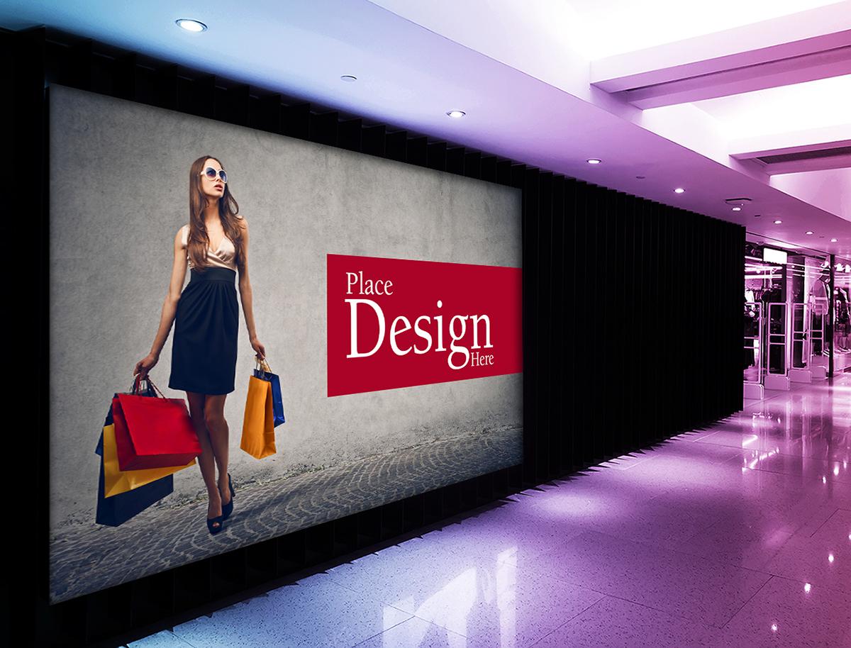 Free Shopping Mall Billboard Mockup On Behance