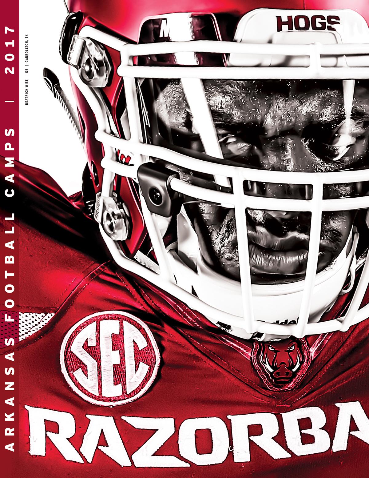 Arkansas Razorbacks 2017 Football Camps Brochure On Behance
