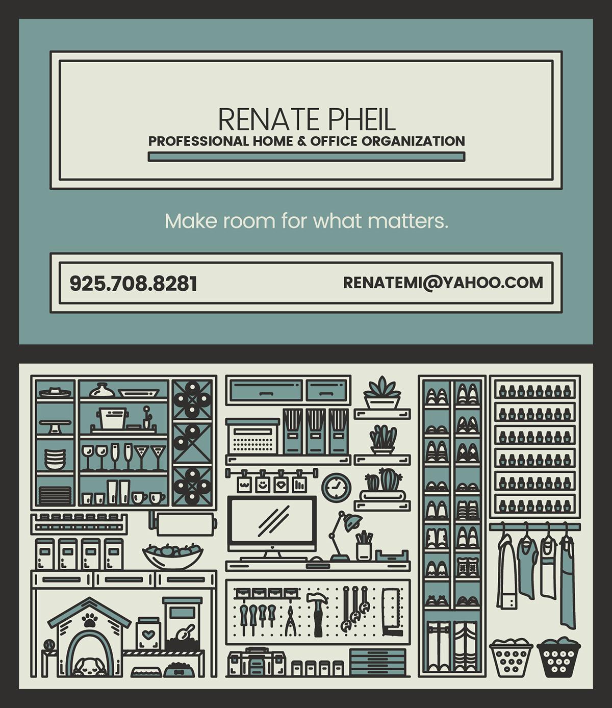 Professional Organizer Business Card On Behance