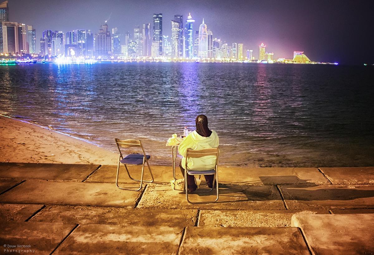 night photography long exposure Qatar doha