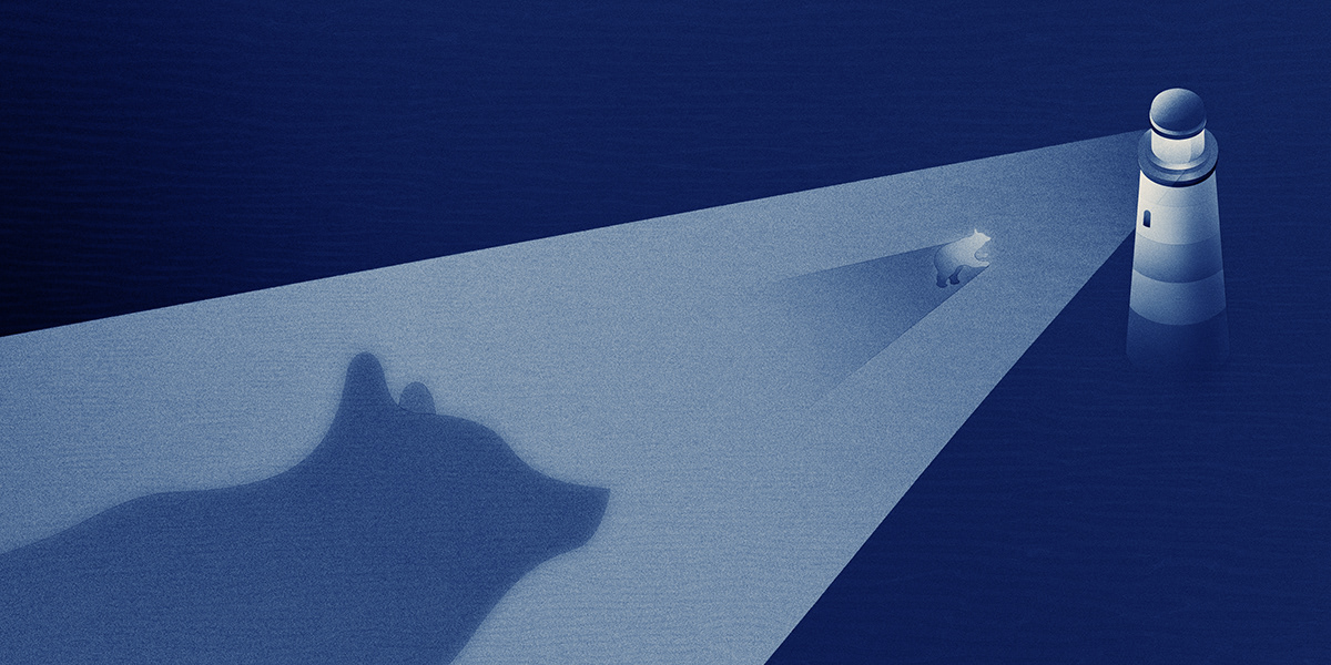 musician Album blue polar bears slient struggle ILLUSTRATION  Drawing  story journey