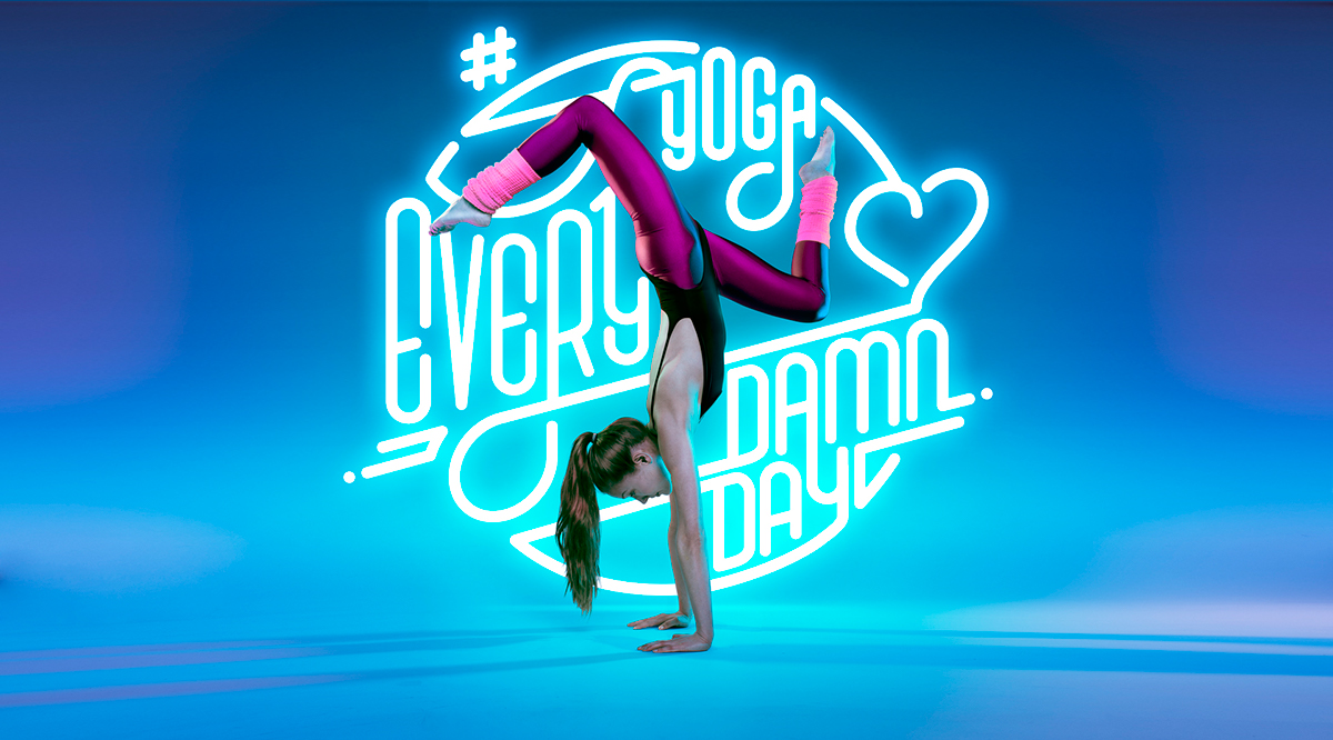 Yoga typo color bend lover damn day core serious studio314 model cmykay