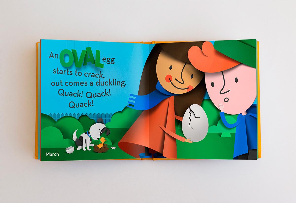 paper cut book children's book Picture book