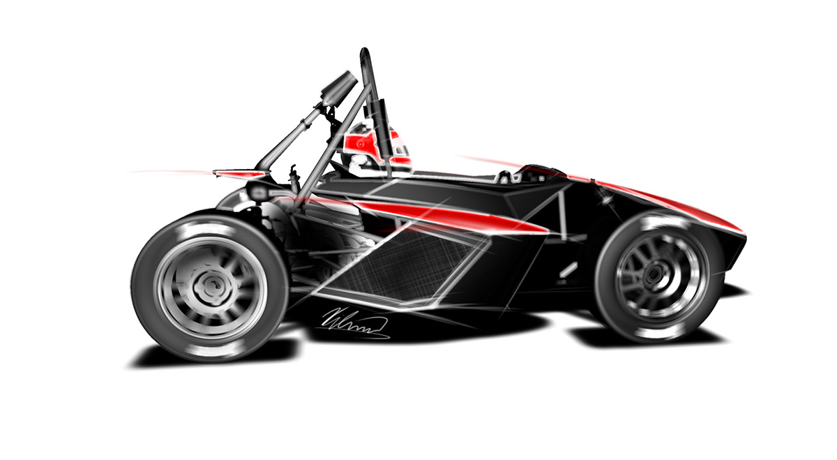 Basic design of a car - Final Surface Digital Model