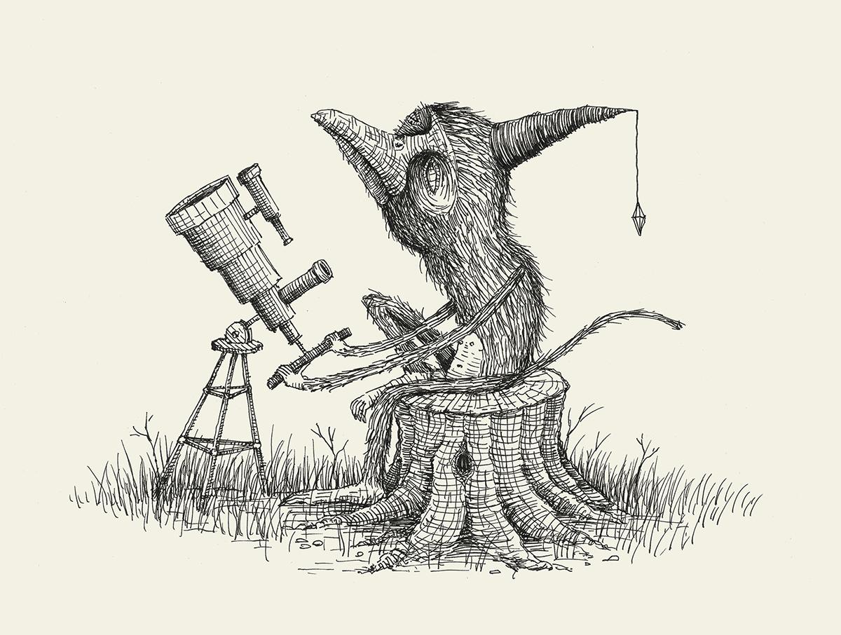 Drawing  pen ink sketch sketchbook weird strange animals Nature scribble