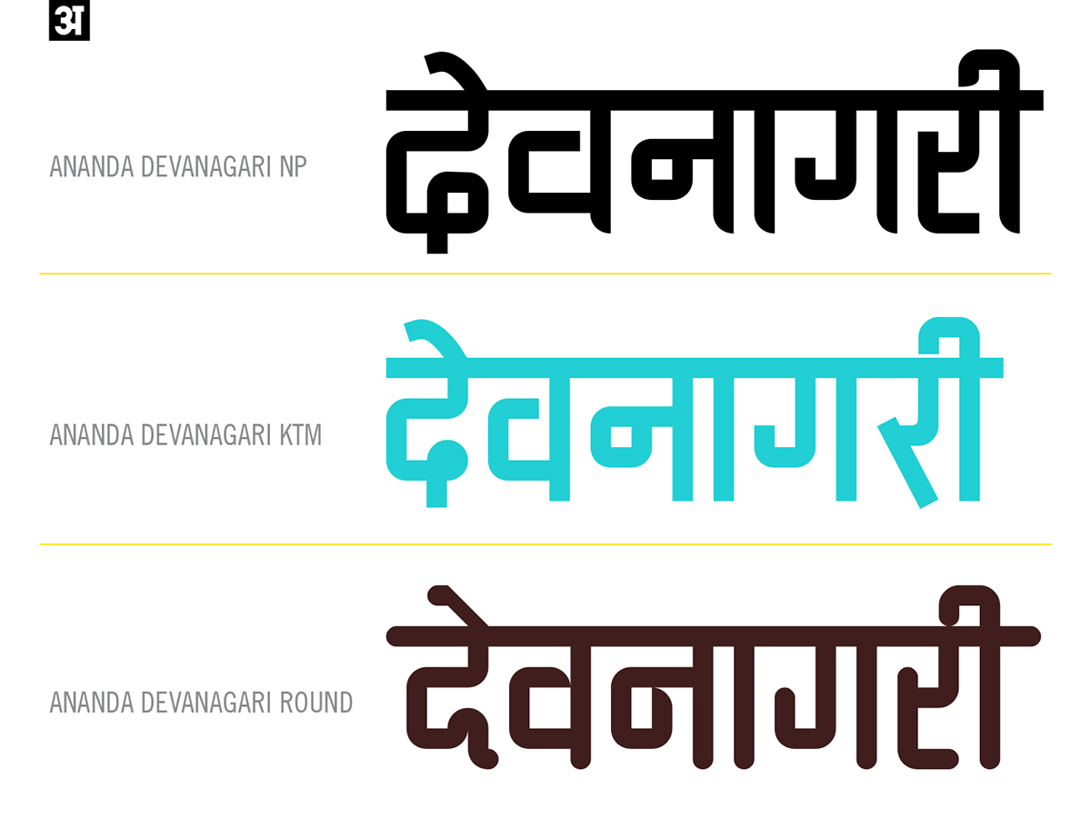 Ananda Devanagari Font - 3 Styles FREE on Behance
