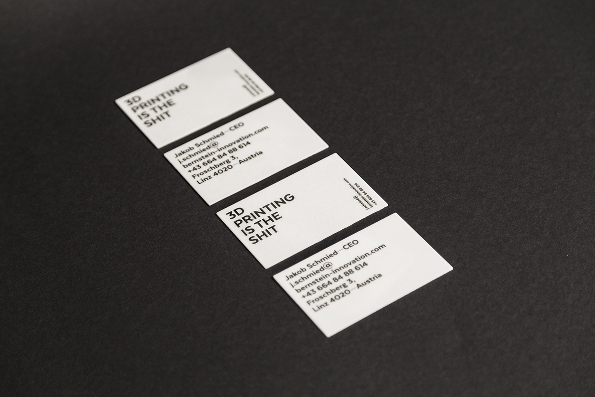 3D Printed Business Cards on Behance