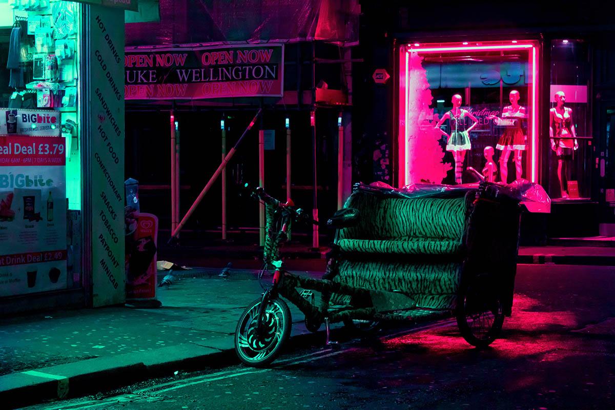 nights lights neon night photography low light Moody Street Colourful  sexy vivid