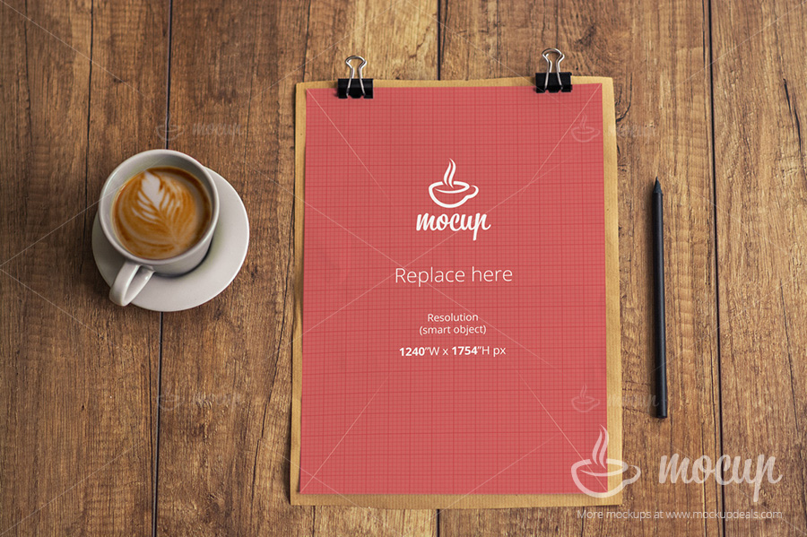 Free Invoice PSD Mockup Template On Behance - Invoice mockup psd free