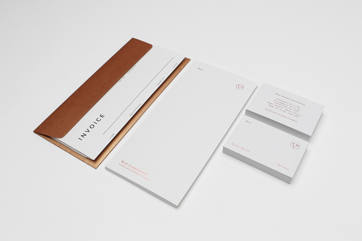 Stationery copper metallic screen printing books foil Interior print Collateral