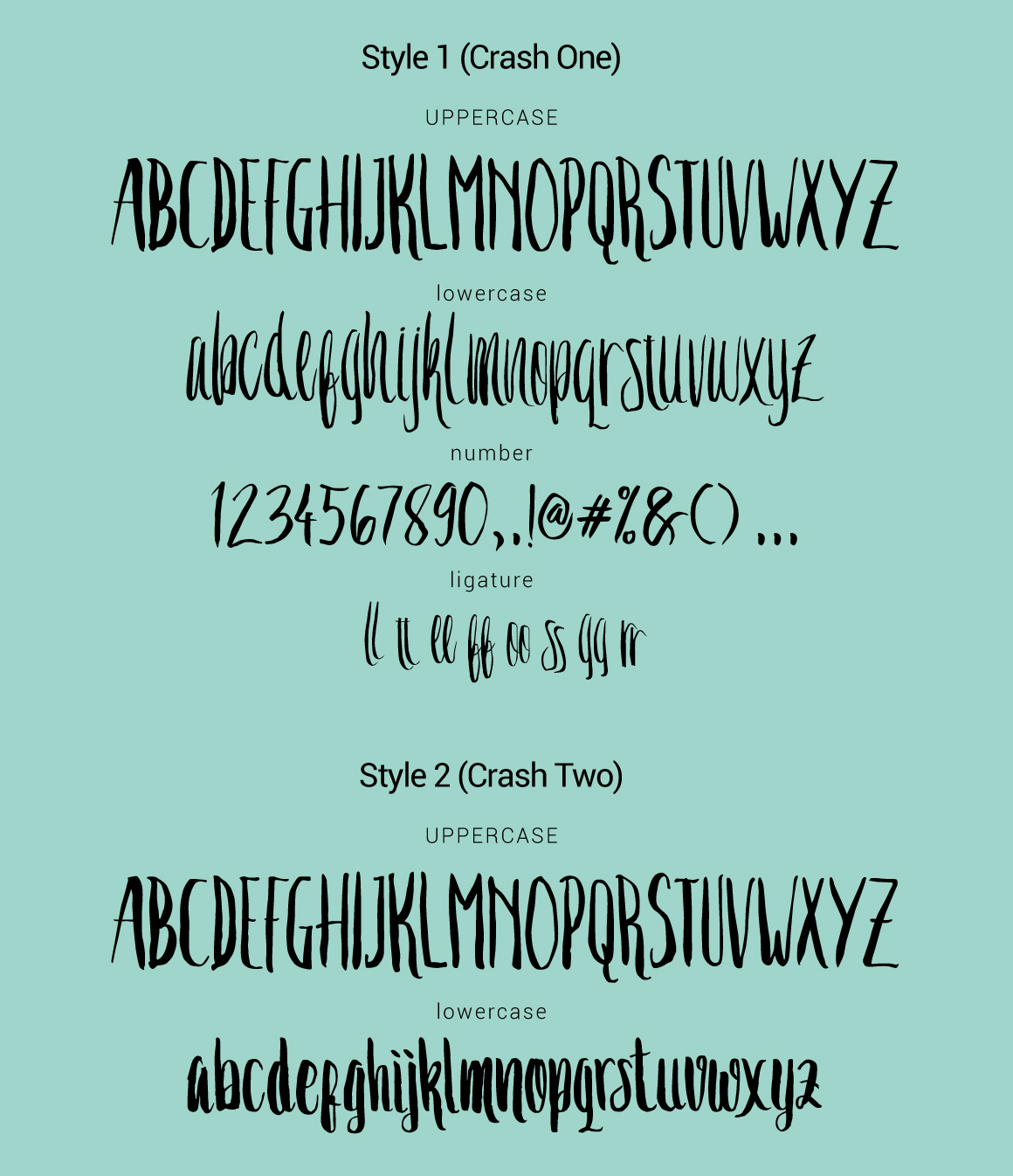 free Typeface font freebies lettering brush