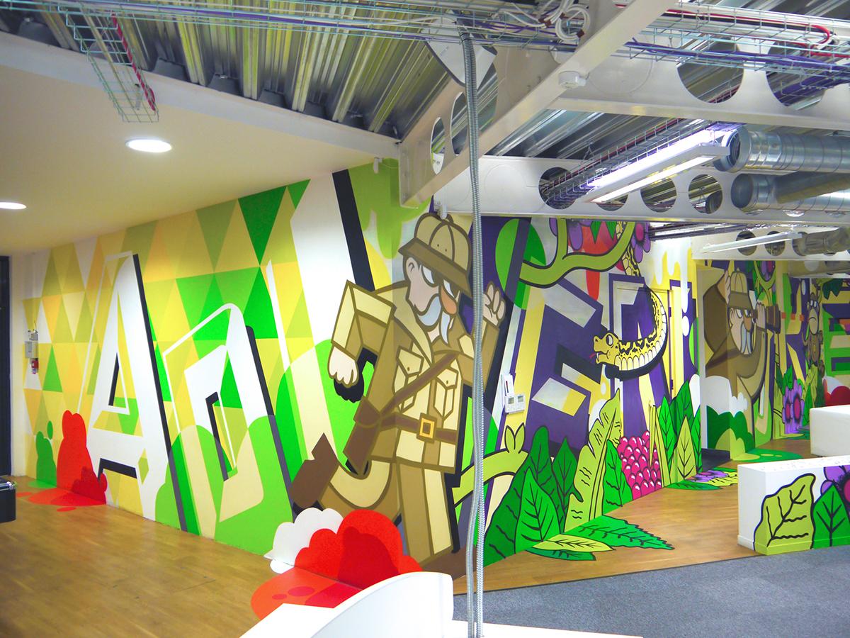 Office Interior Murals & Graphics on Behance