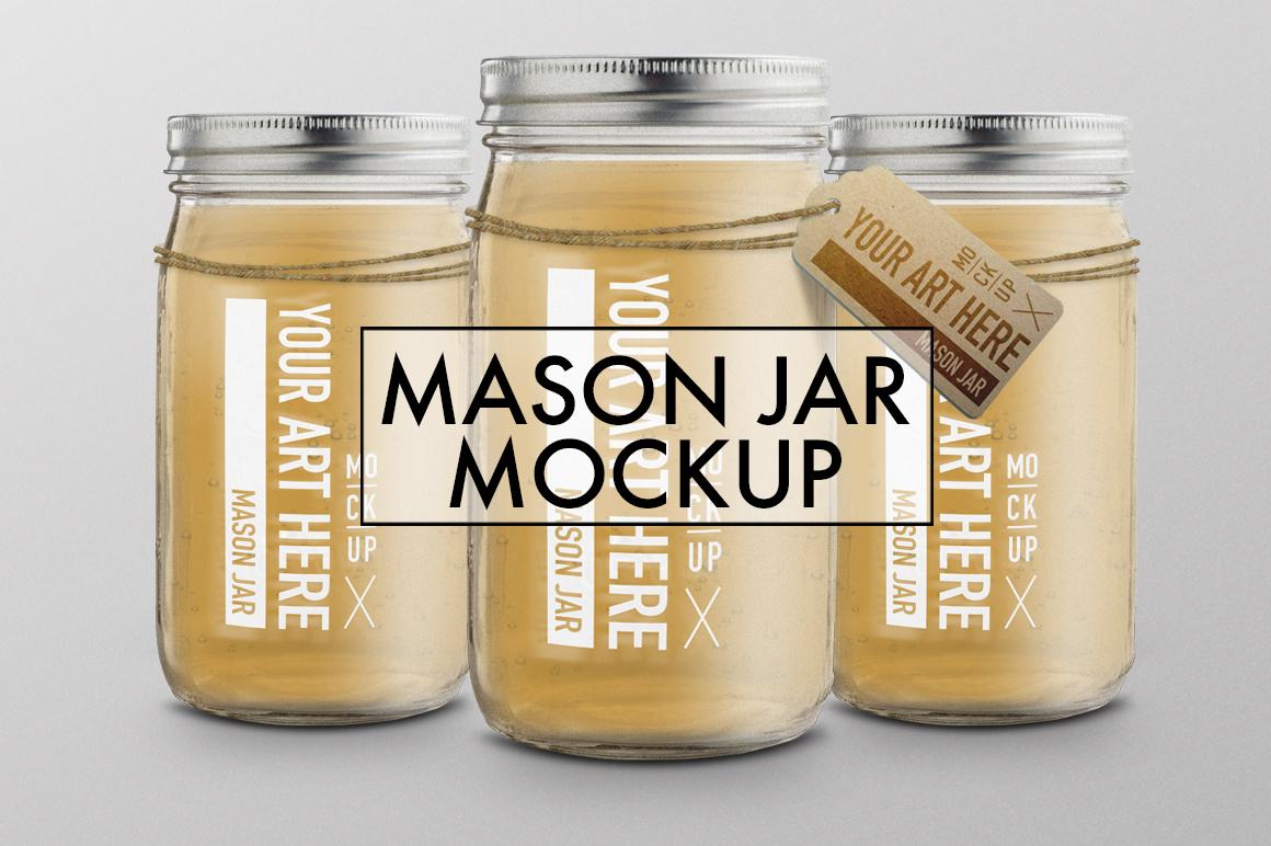 mason jar mockup on behance