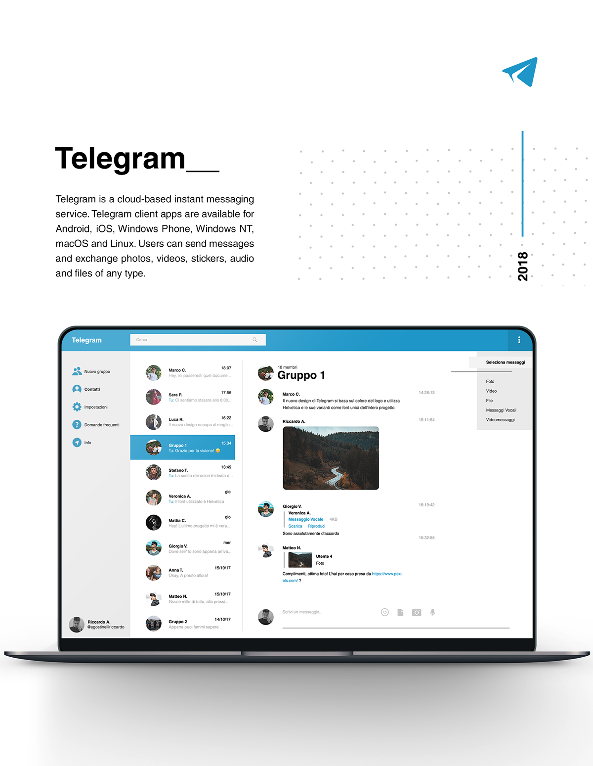 Telegram Redesign on AIGA Member Gallery