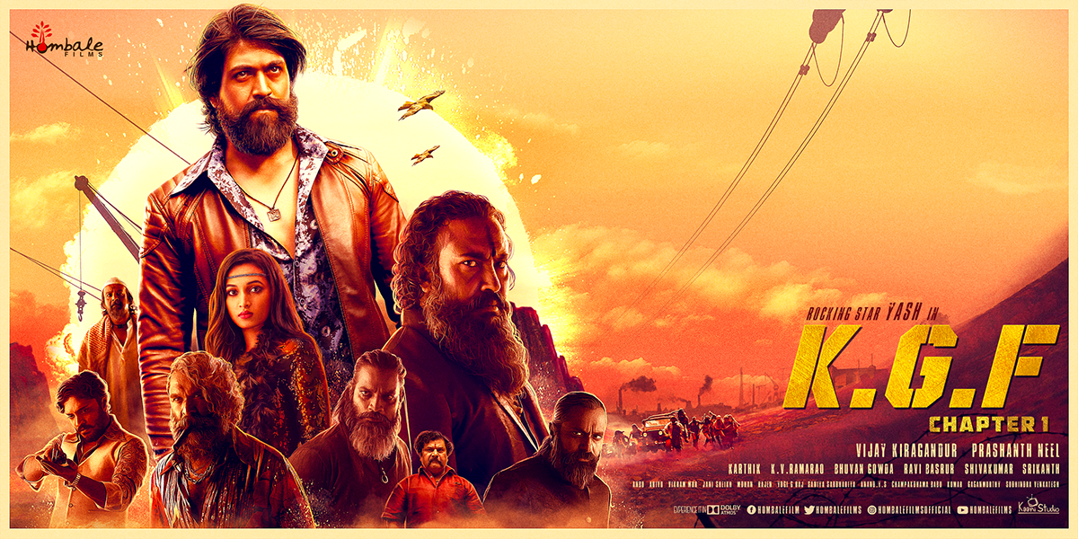 Kgf Movie Official Posters On Pantone Canvas Gallery