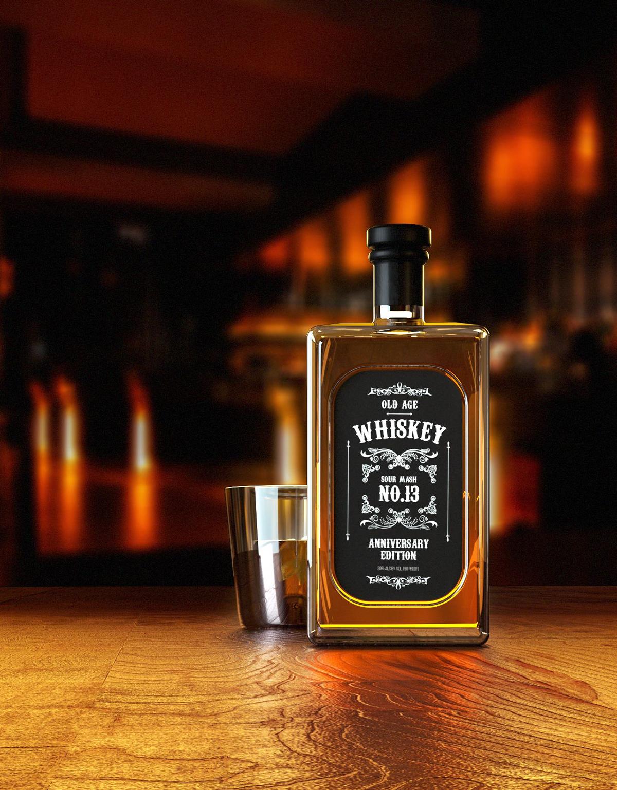 Whiskey octanerender   cinema4d product octane