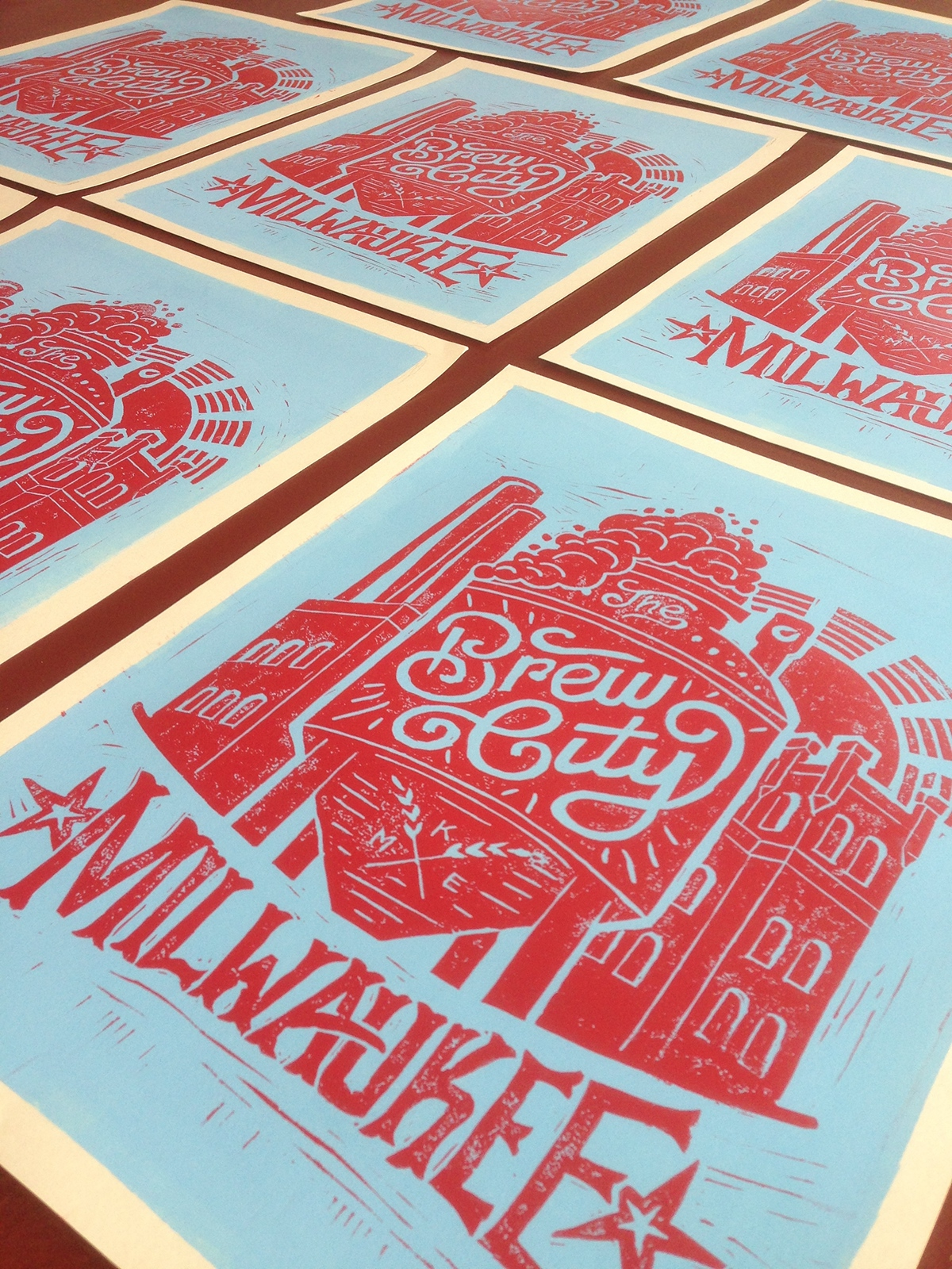 Block prints hand lettering on behance