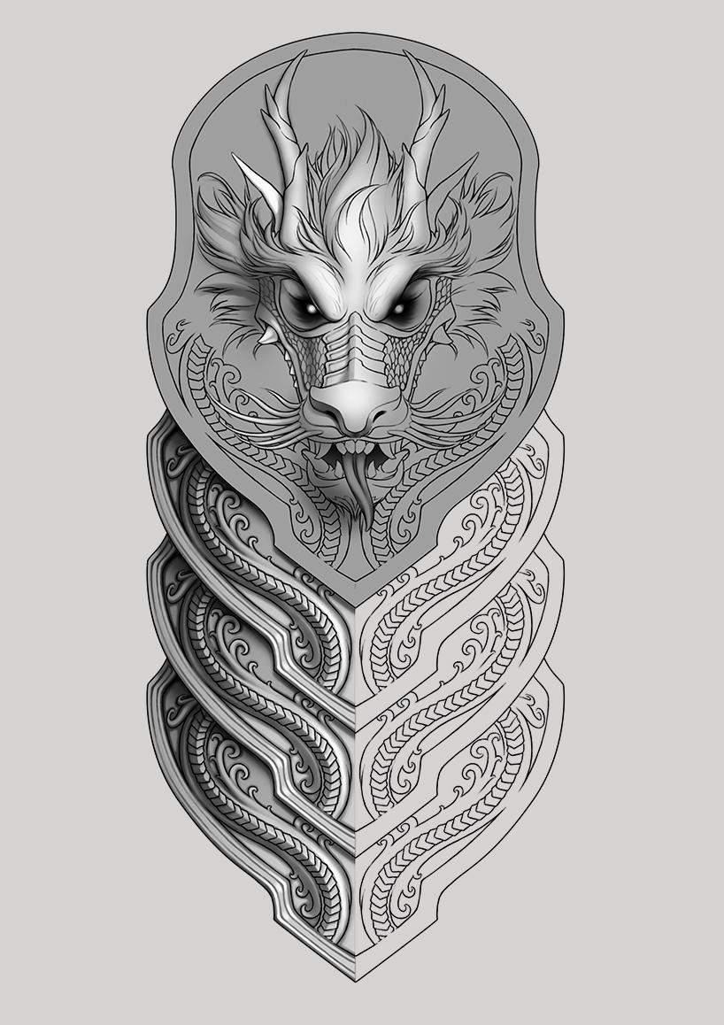 Half Sleeve Dragon Tattoo On Behance