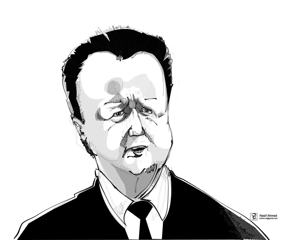 caricature   David Cameron davidcameron david cameron british British Prime Minister Prime Minister minister London