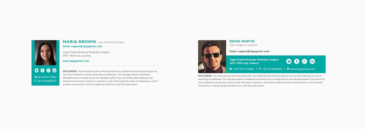 10 Free Email Signature Templates With Elegant Designs on Pantone ...