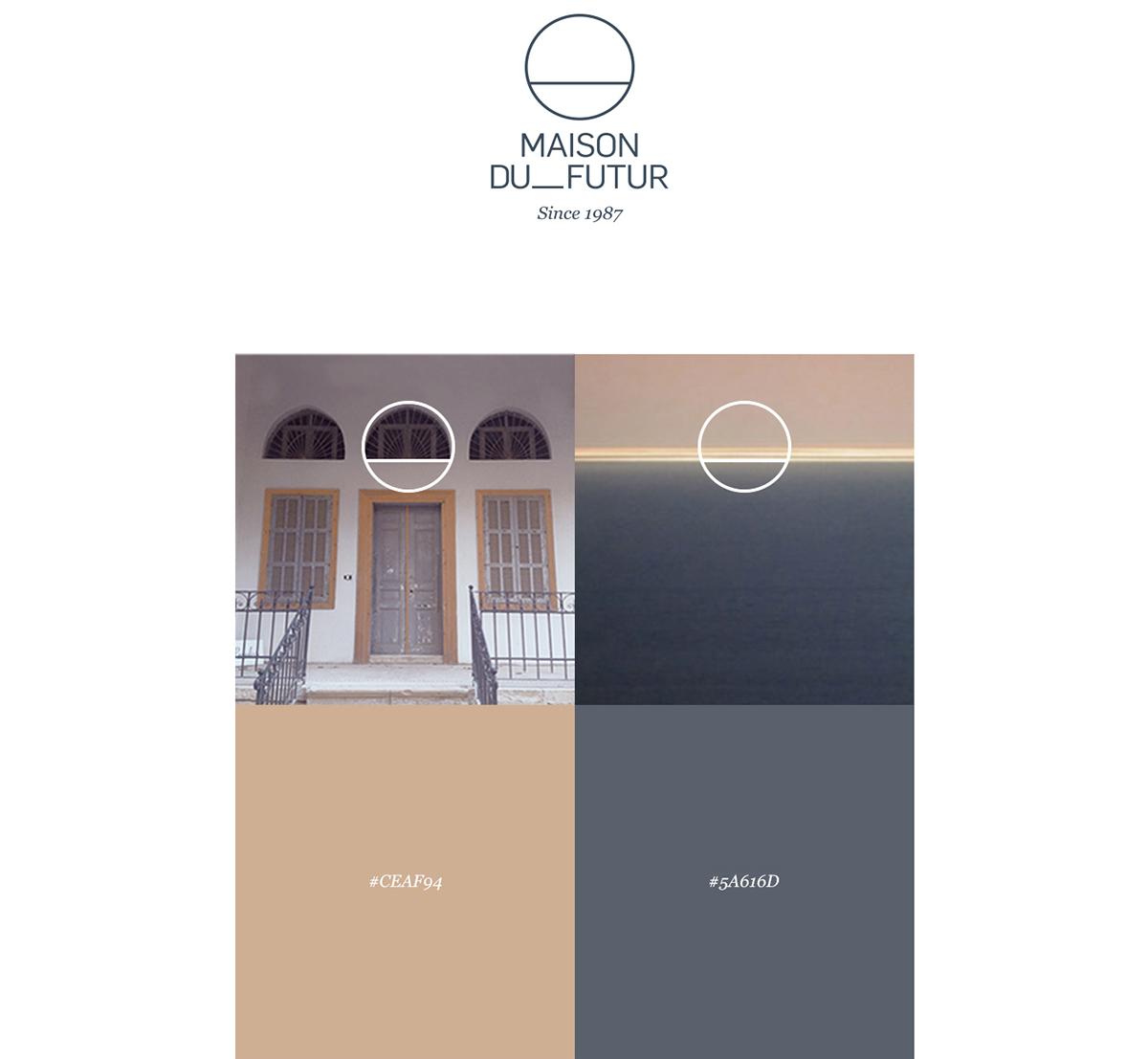 maison du futur branding on behance. Black Bedroom Furniture Sets. Home Design Ideas