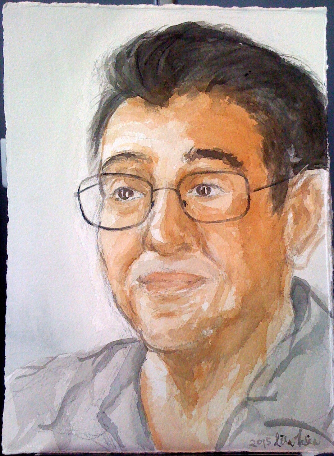 Portrait of Robert in watercolor, 2015