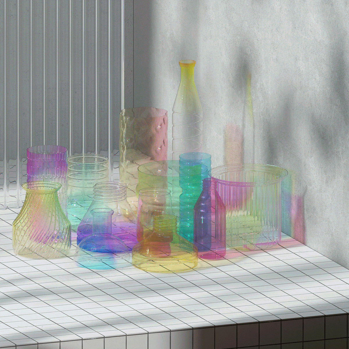 3D abstract c4d color gif ILLUSTRATION  light motiongraphics octane simple