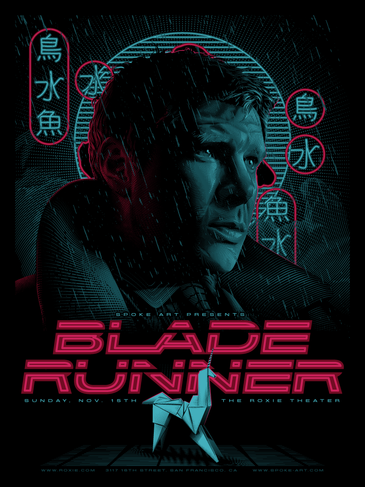Blade runner original movie poster 1992