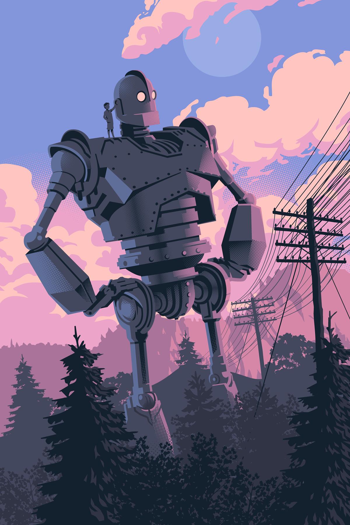 Iron Giant Illustration on Behance