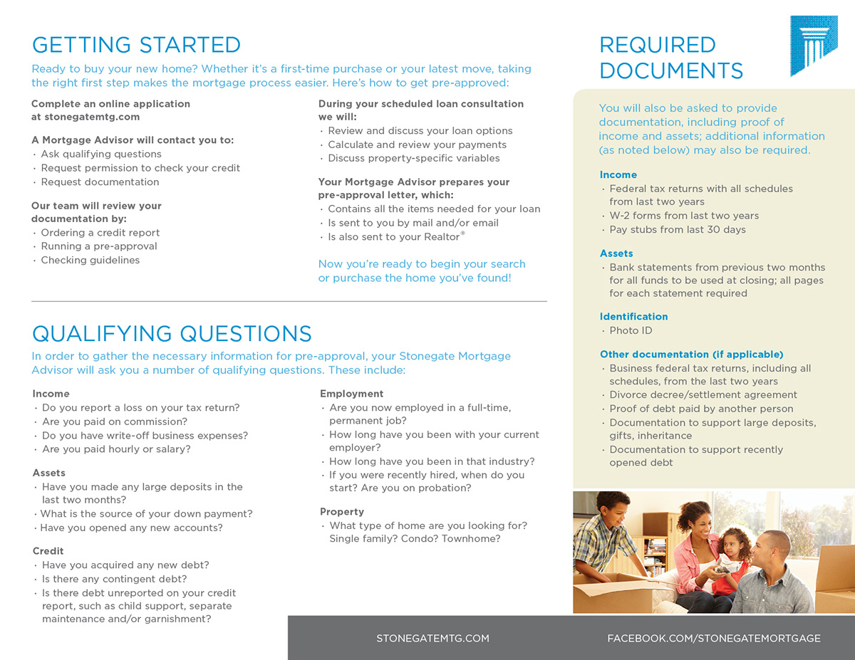 brochure trifold Mortgage