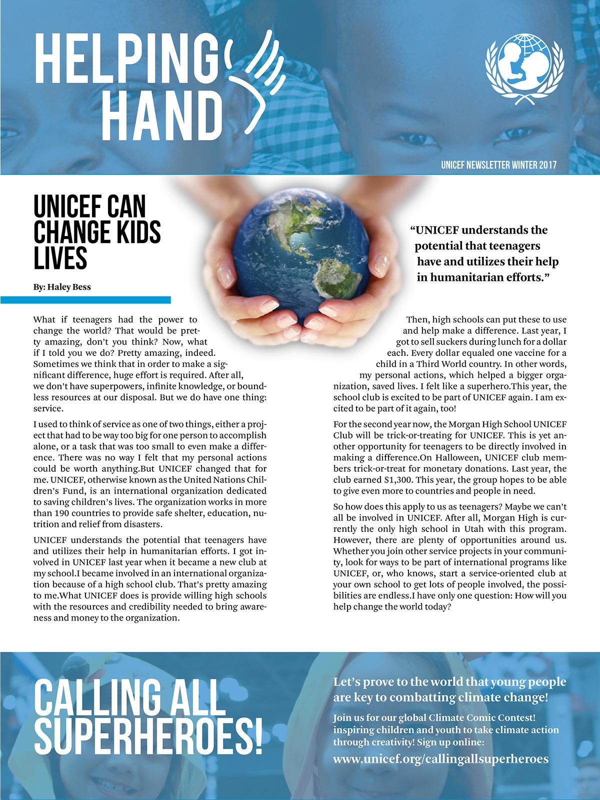 editorial design not for profit newsletter on behance