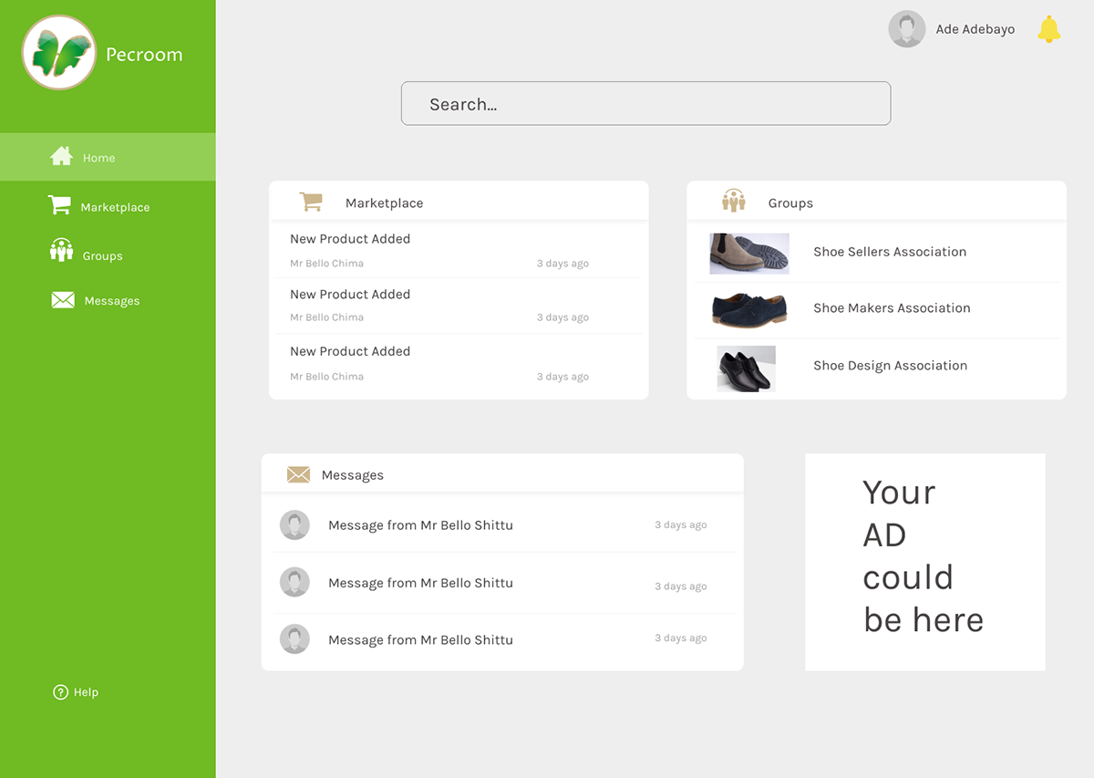 community social user interface
