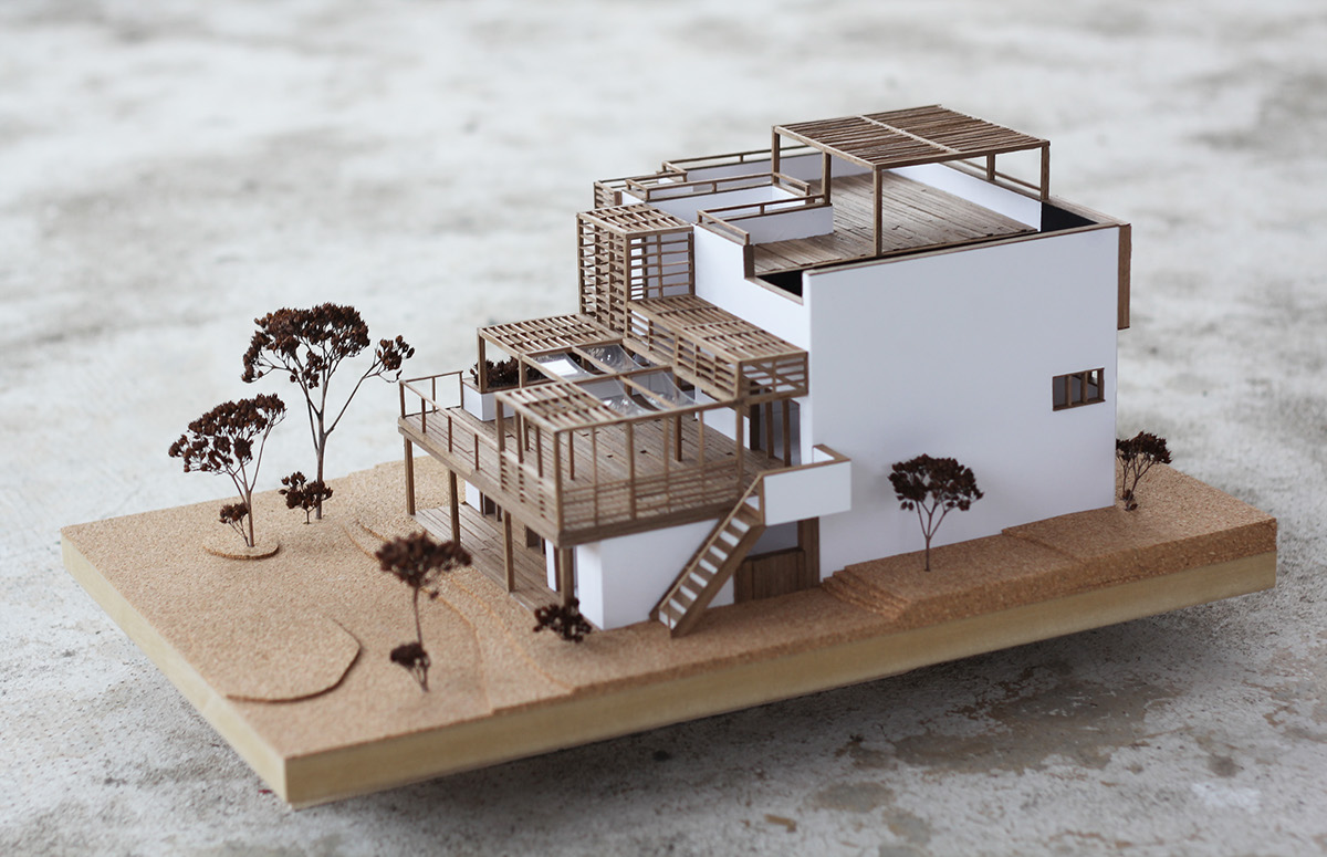 Wooden Architecture Model On Behance