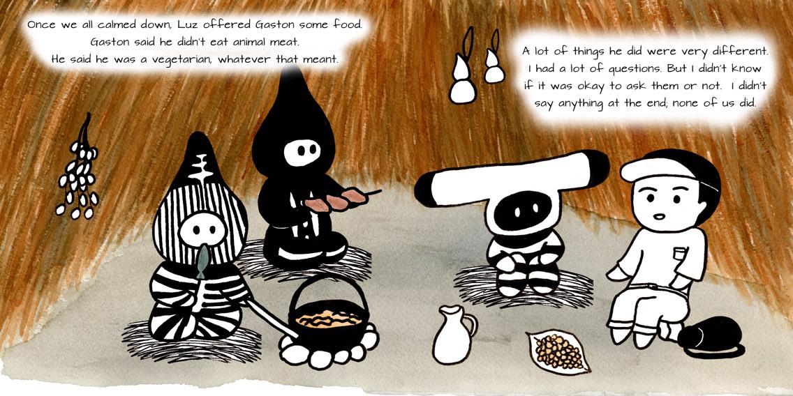 Selk'nams selknam tribe chile South America children's book culture Education Picture book ILLUSTRATION