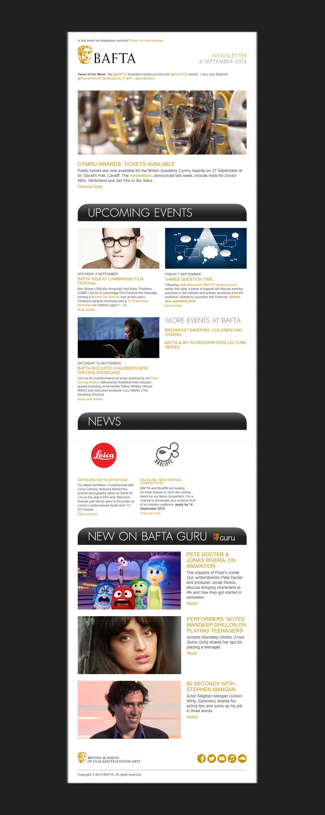 bafta HTML email marketing
