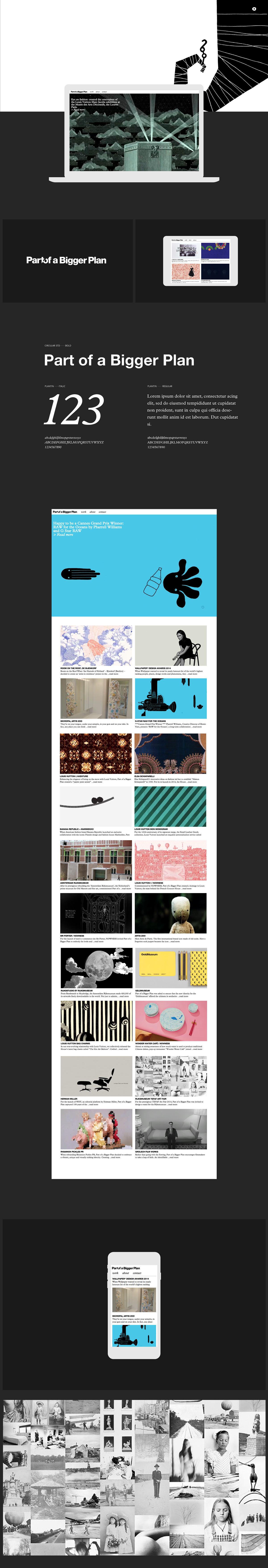 Part Of A Bigger Plan Website On Behance