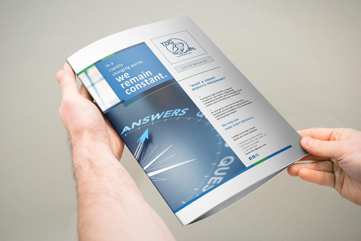 3xa4 trifold brochure on student show