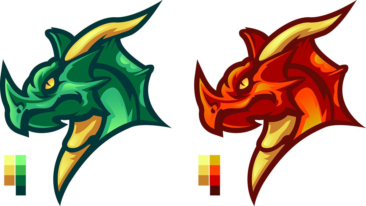 dragon,esports,E-Sports,Mascot,logo,vector,great,gfx