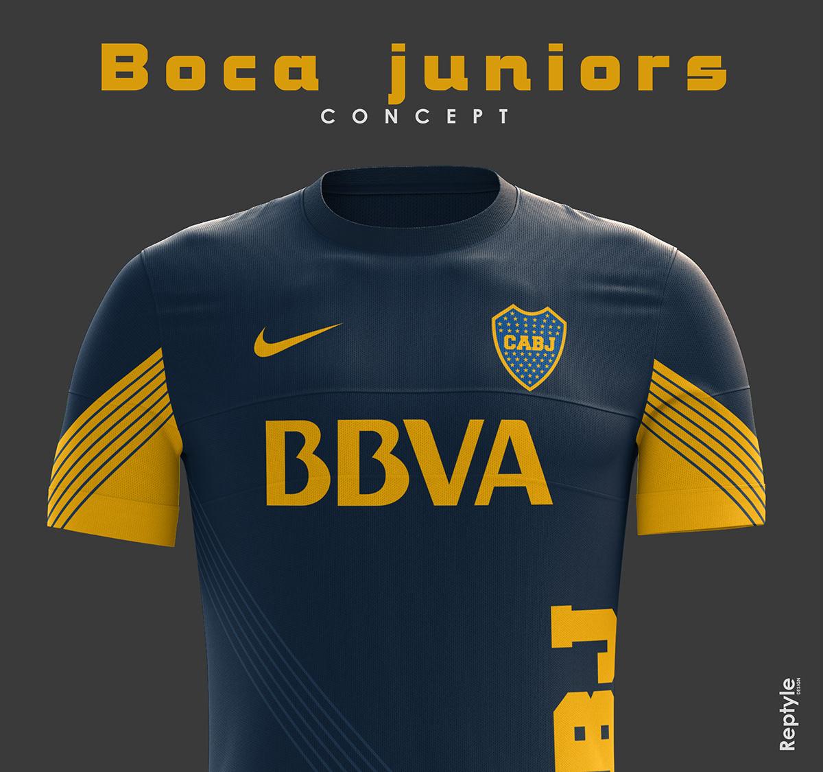 Boca Juniors soccer kit concept on Behance af4d1d141
