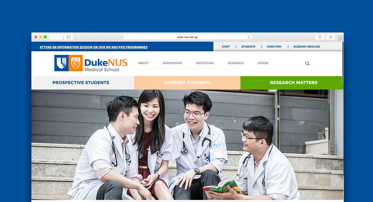 Duke-NUS Medical School Website Redesign on Behance