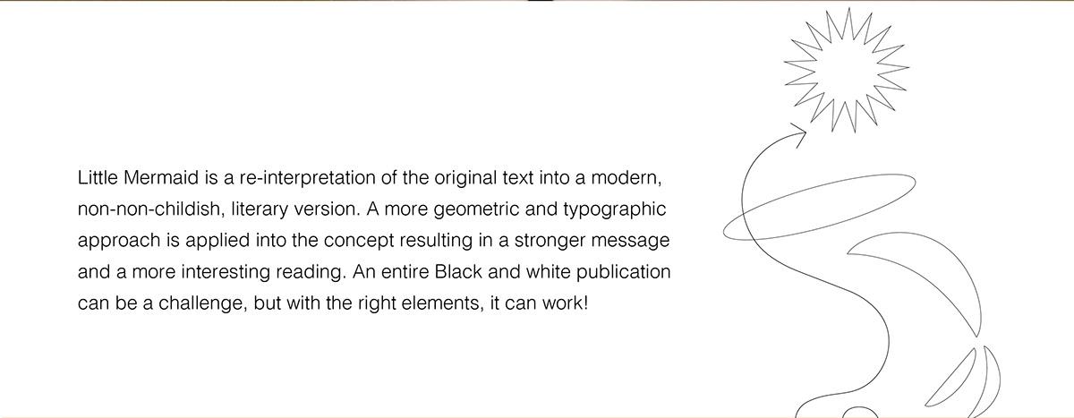 editorial editorial design  ILLUSTRATION  little mermaid type typography