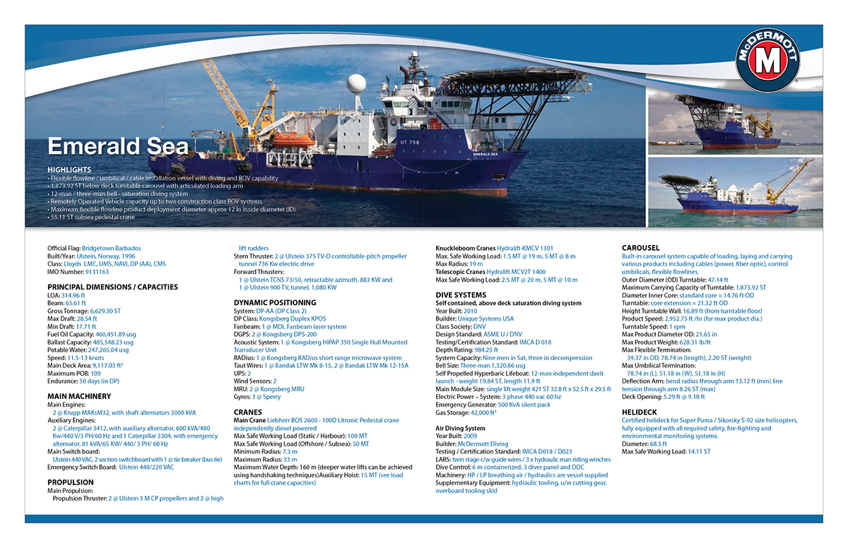 Four Page Vessel Spec Sheet